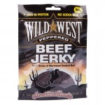 Wild West Beef Jerky Peppered 50g